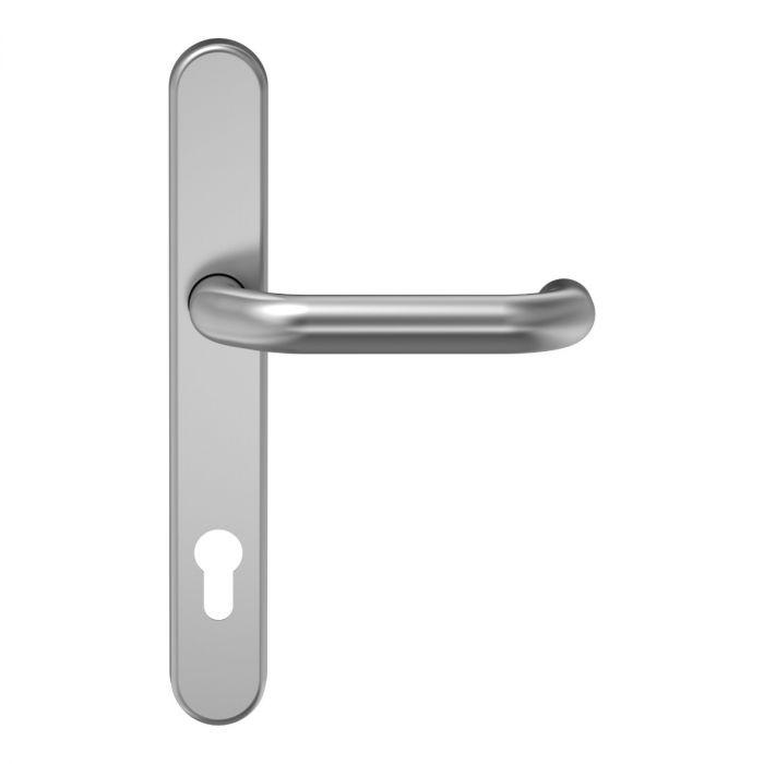 Klamki zabezpieczające aluminium szyld wąski D-116 PZ